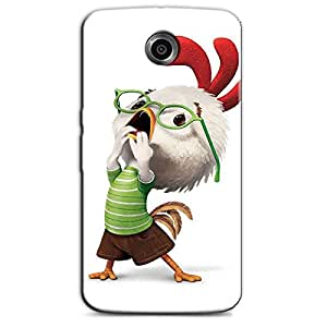 CONFUSED CHICKEN BACK COVER FOR GOOGLE NEXUS 6