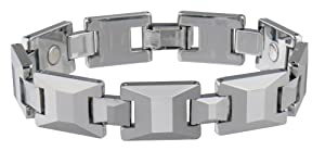 Sabona 35970 Tungsten Carbide Sport Magnetic Bracelet, Medium