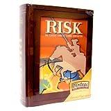 Risk ~ Parker Brothers Vintage Game Collection Wooden Book Box (Color: brown, Tamaño: bookshelf)