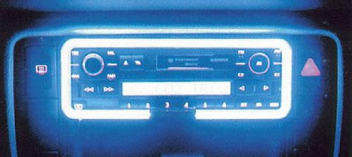 Neon contour autoradio - Bleu - 12V - 666-CaL