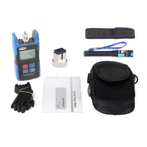 Sainsonic Wattsout Op-600 Portable Optical Power Meter + 20Mw Visual Fault Locator Fiber Optic Cable Tester Meter For Catv Cctv Telecommunications Engineering Maintenance Cabling System
