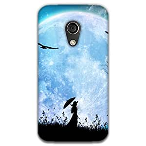Mott2 Girl Moon Back cover for Motorala MOTO G (2G) (Limited Time Offers,Please Check the Details Below)