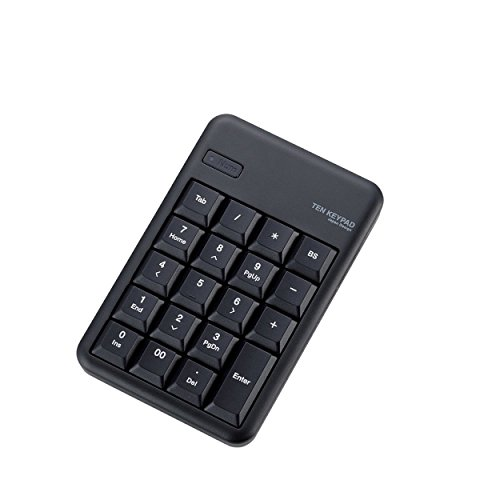 ELECOM Bluetoothテンキーボード メンブレン 高耐久 ブラック TK-TBM016BK