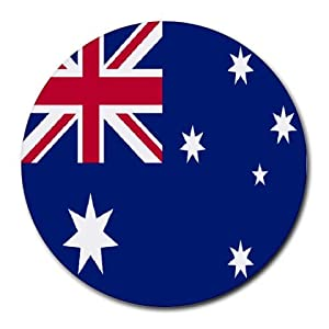 Amazon.com : Australia Flag Round Mouse Pad : Office Products