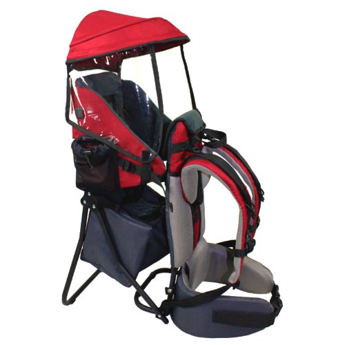 Buy Baby Back Pack Cross Country Carrier Stand Child Kid Sun Shade Visor Shield Red