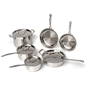 BergHOFF Earthchef Premium Copper Clad 10-Piece Cookware Set