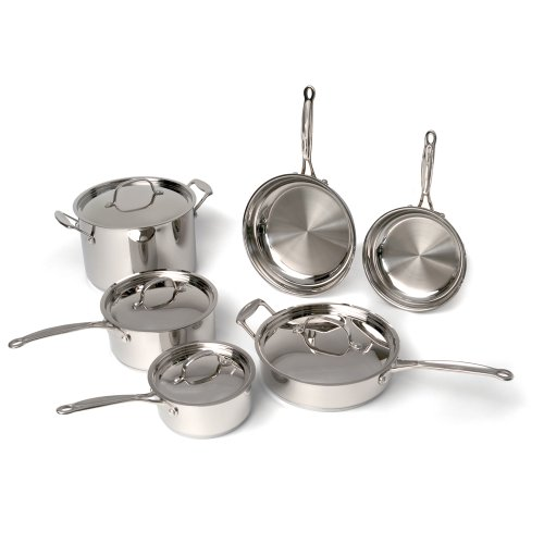 BergHOFF Earthchef Premium Copper Clad 10-Piece Cookware Set (Earth Pots And Pans compare prices)