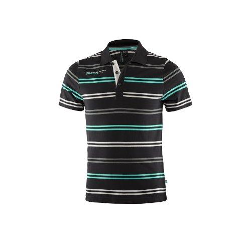 mercedes-amg-petronas-maglietta-polo-uomo-nero-schwarz-s