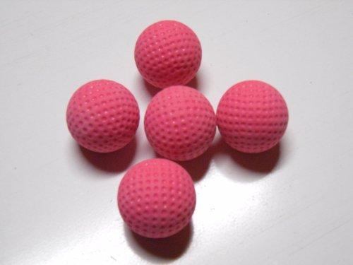 Minigolfbälle 5 rosa genoppte Anlagenbälle