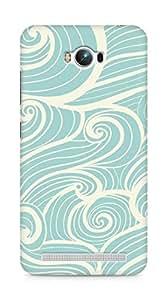 Amez designer printed 3d premium high quality back case cover for Asus Zenfone Max ZC550KL (waves)