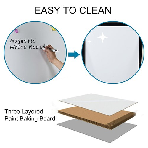 Stand White Board - 40x28 Magnetic Dry Erase Board w/Flipchart Pad Double Sided