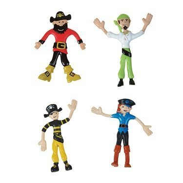Bendable Pirate Toys (Pack of 12)