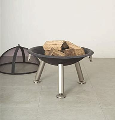 Ingarden Fire Pit Circular Steel Garden Fire Pit With Tripod Legs Cover from INGARDEN
