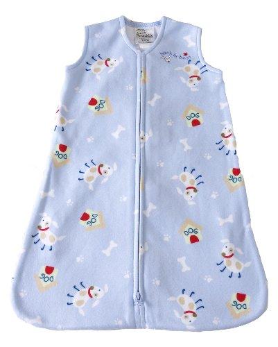 HALO SleepSack Micro-Fleece Wearable Blanket, Blue Dog, Medium - 1