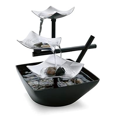 HoMedics EnviraScape Asian-inspired Silver Springs Relaxation Fountain