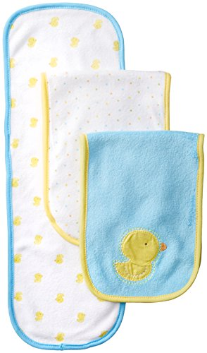 Gerber Unisex-Baby Newborn 3 Pack Neutral Terry Burp cloths, Yellow, One Size - 1