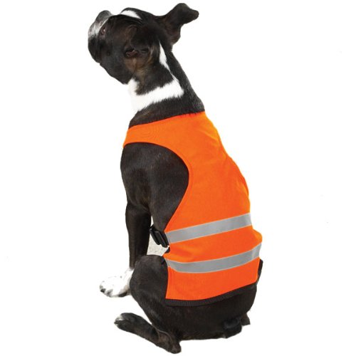 Guardian Gear Polyester/Nylon Safety Dog Vest, Small, 12-Inch, Orange front-985702