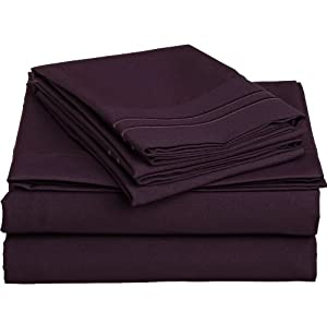Amazon.com: SandersCollection.com 1200 Thread Count Queen Size 4pc ...