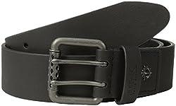 Buffalo Men's Jean Belt with Perforated Roller Bar On Buckle, Black, Medium