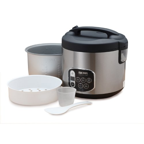 aroma housewares 20 cup cooked 10 cup uncooked digital rice cooker food ebay. Black Bedroom Furniture Sets. Home Design Ideas