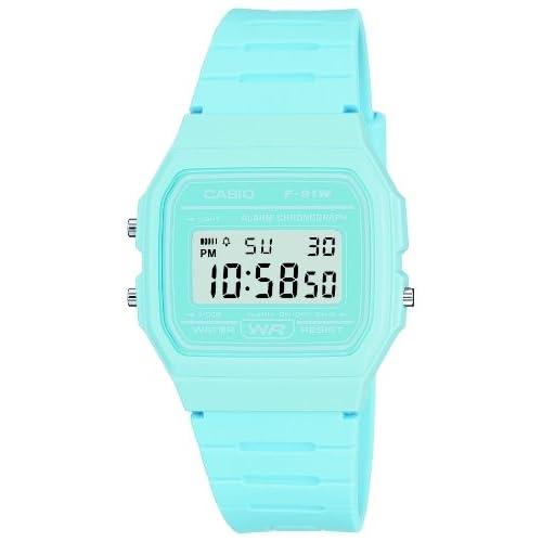 Casio F-91WC-2AEF Digital Watch with Blue Resin Strap