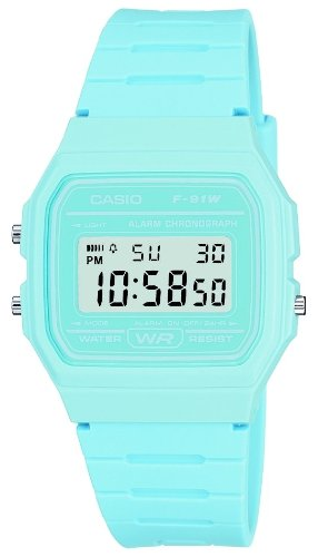 Casio F-91WC-2AEF Digital Watch with Blue Resin Strap