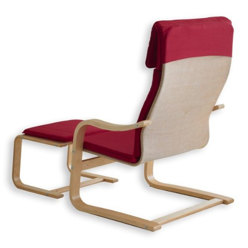 Sessel mit Hocker Lina