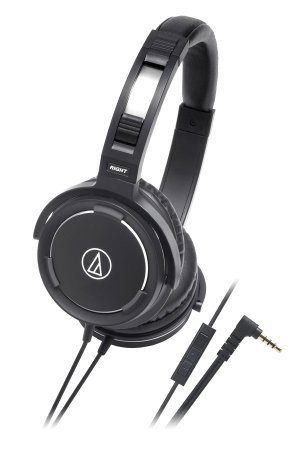 Audio-Technica ATH-WS55IBK Solid Bass Over-Ear Headset for iPod/iPhone/iPad [parallel import goods]