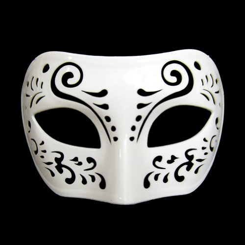 Dream Tale White Venetian Masquerade Mask ~ Mardi Gras Masks