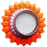Designer Beautiful Diyas In Neon Colours Pack Of 2 (can Float Also)