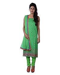 Mumtaz Sons Women's Cotton Unstitched Dress Material (MS111423A,Green)