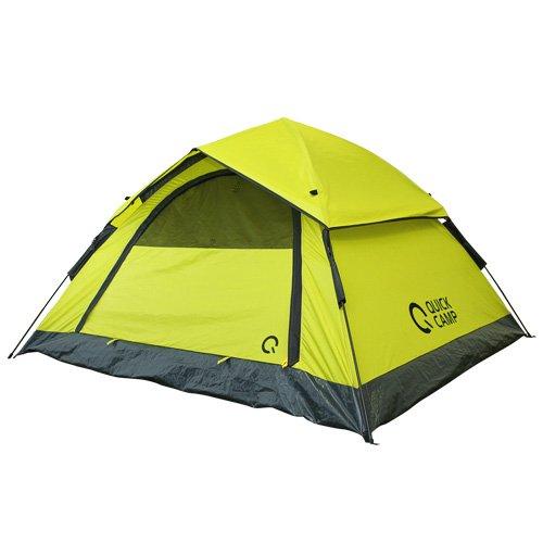 クイックキャンプ ワンタッチテント 3人用 210×190cm フライシート付き グリーン QC-OT210/ALOT-001