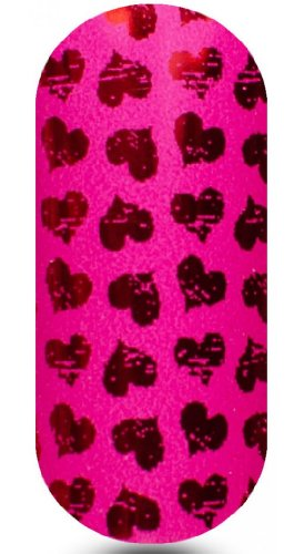 Kooky Nail Wraps Valentine Collection - Heart Throb Design