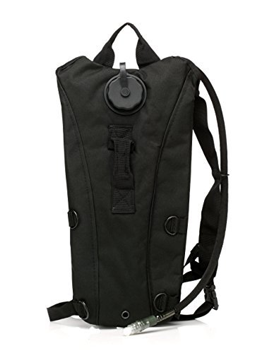 US Army 3L 3 Liter (100 ounce) Hydration Pack Bladder Water Bag Pouch Backpack Hiking Climbing Survival Outdoor (Black) (Water Pack compare prices)