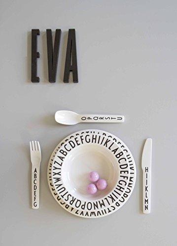 Design Letters - Melamin Schale, Schüssel, Schälchen - 11 cm - ABC - Arne Jacobsen