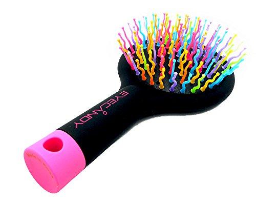 レインボーボリューム S ブラシブラシ ミラー付きコンパクトブラシ 髪 ツヤ