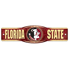 Buy Florida State Seminoles Official NCAA 4x17 Street Sign by Wincraft by WinCraft