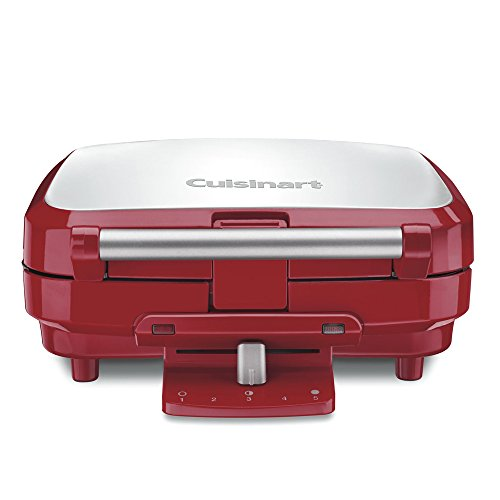 Why Choose Cuisinart WAF-150R 4-Slice Belgian Waffle Maker, Stainless Steel/Red