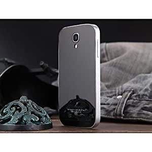Luphie Acylic Mirror Back Cover with Aluminum Metal Frame for Samsung Galaxy S4 I9500 (Assorted Colors) , Silver