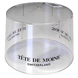 Campana transparente de plástico para Girolle Rebanador de queso con impresión Tete de Moine