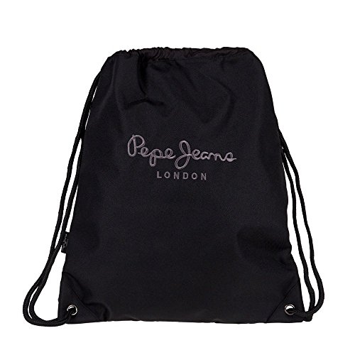 Pepe Jeans Plain Color Zaino Casual, 44 cm, 1.54 Litri, Nero