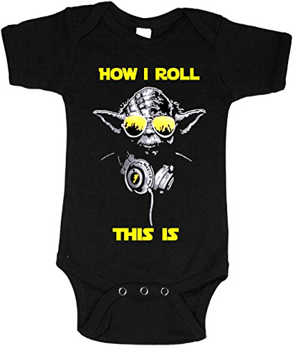 Star Wars Yoda DJ This is How I roll Baby Shirt (12-18 Months)