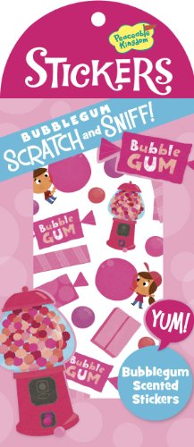 Peaceable Kingdom / Scratch & Sniff Bubblegum Scented Sticker Pack front-654459