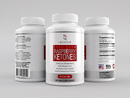 Raspberry Ketones 100% Pure 500Mg - Recommended By The Dr. To Blast Through Your Whole Body For The Best Bio Cleanse - Max Your Nutritional Intake With These Capsules - Not A Drop, Chew, Liquid Or Powder - Caffeine Free Concentrate To Burn + Bulk - Be Cre