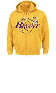 NBA Los Angeles Lakers Mens Kobe Bryant 24 Deny the Ball Full Zip Hoodie by Majestic