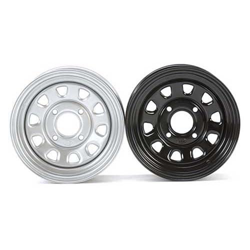 ITP Delta Steel Wheel   12x7   4+3 Offset   4/156   Black , Bolt Pattern 4/156, Rim Offset 4+3, Wheel Rim Size 12x7, Color Black, Position Front/Rear D12T556