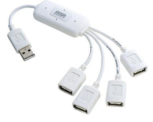 SANWA SUPPLY USB-HUB227WH USB2.0ハブ(ホワイト)