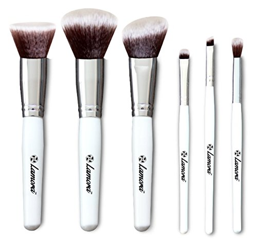 Blush Makeup Brush Set - Professional Kit with 6 Essential Face and Eye Makeup Brushes - Kabuki Eyeshadow Powder Foundation Eyeliner - Synthetic Bristles of Premium Quality for Airbrushed Finish (Cargo Lip Liner compare prices)