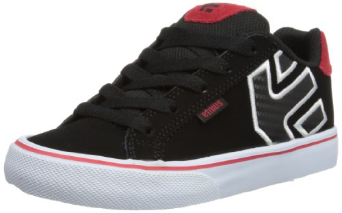 Etnies Unisex-Child Kids Fader Vulc Trainers 4301000086 Black/Red/White 10 UK Child, 29 EU, 11 US Child