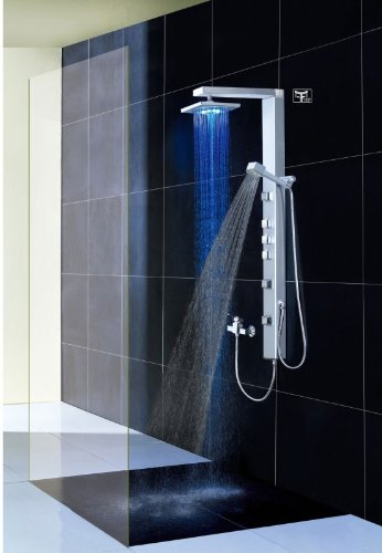 colonne de douche pluie pas cher. Black Bedroom Furniture Sets. Home Design Ideas